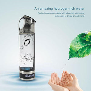 500ML LED Display Hydrogen Generator Water Bottle