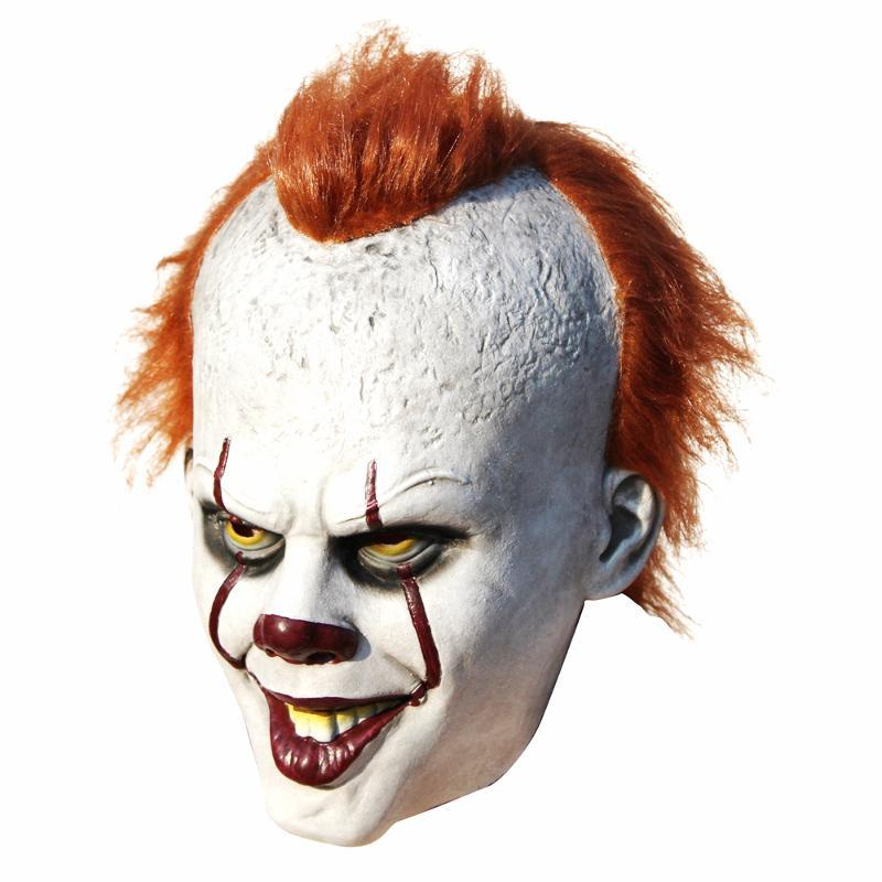 Stephen King's It Pennywise Mask Latex Halloween Scary Mask Cosplay Clown Party Mask Prop