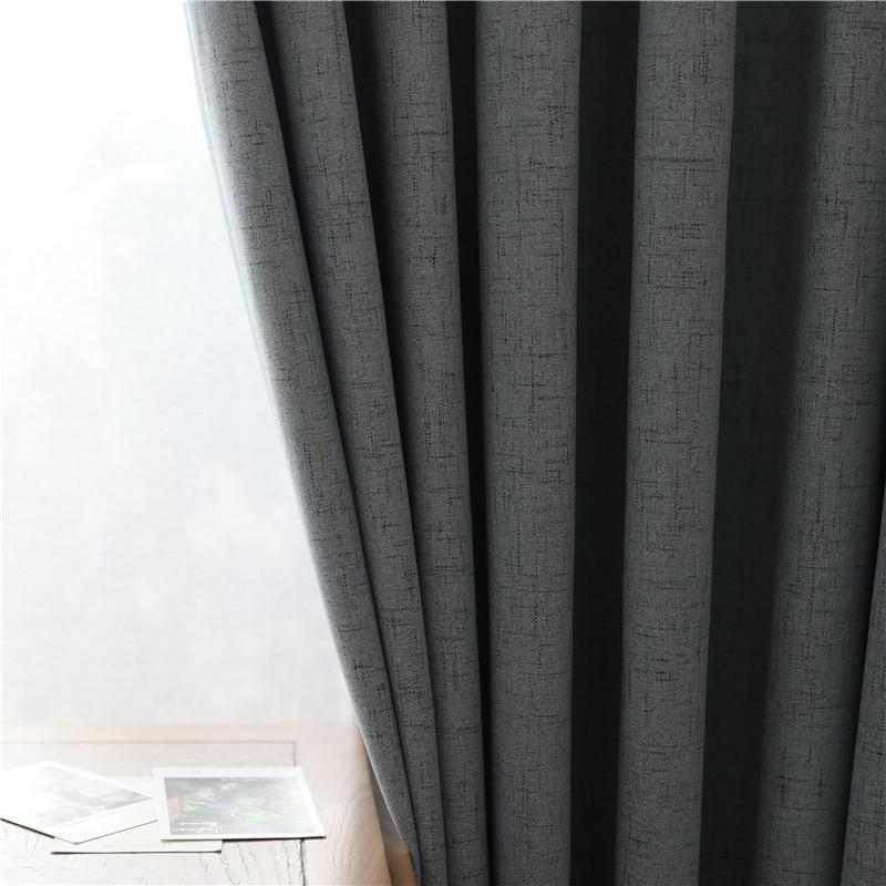 Home Decor Darpe Faux linen Rideaux Window Living room Curtains