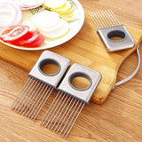 Stainless Steel Food Holders with Prongs