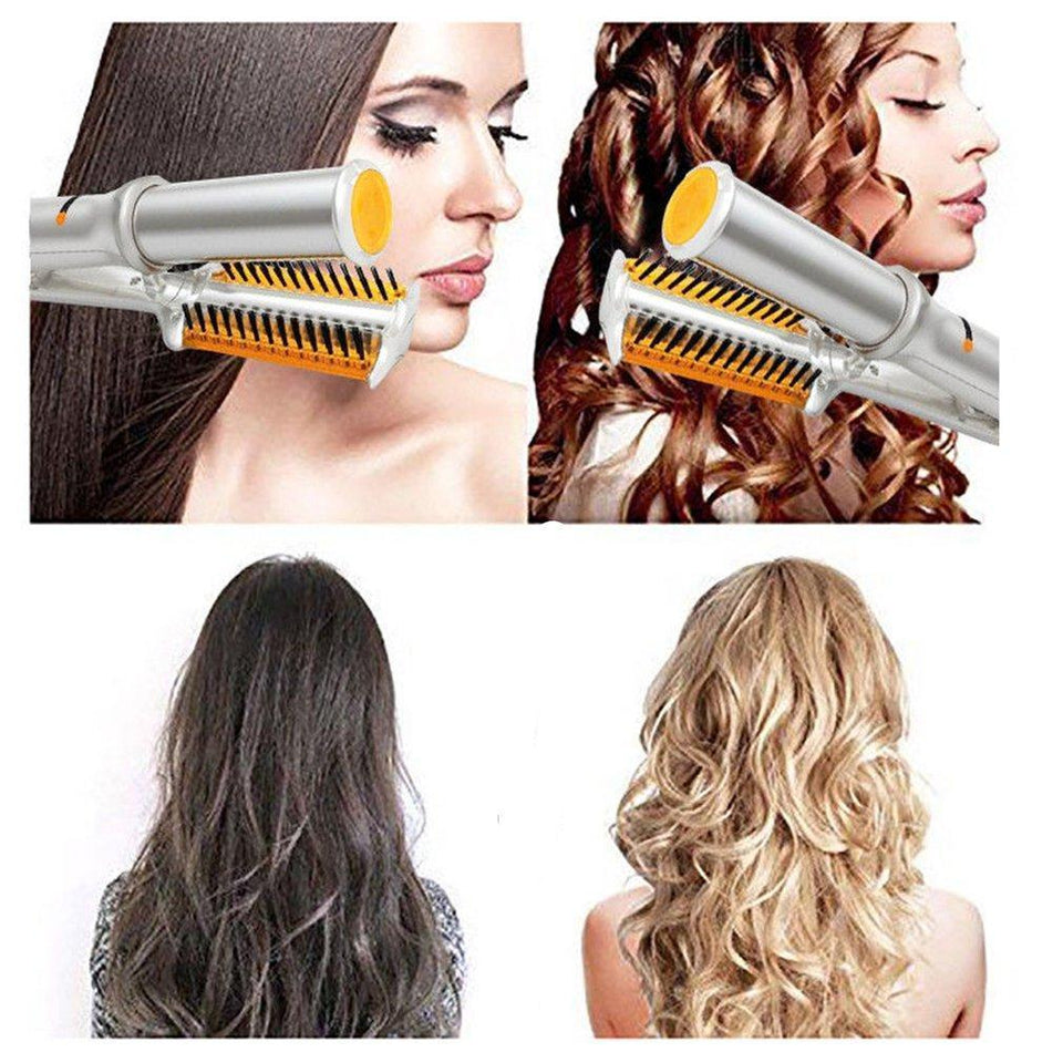 2 Way Rotating Hair Straightener & Curler