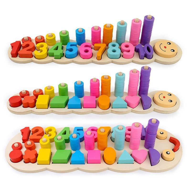 Kids Counting And Stacking Board