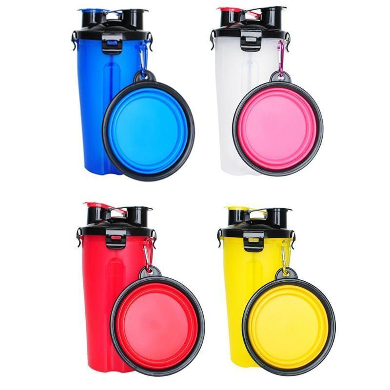 2 in 1 Folding Pet Water Dispensers Bottle