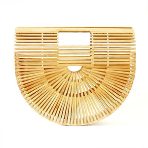 Womens Handbag Made From Natural Bamboo