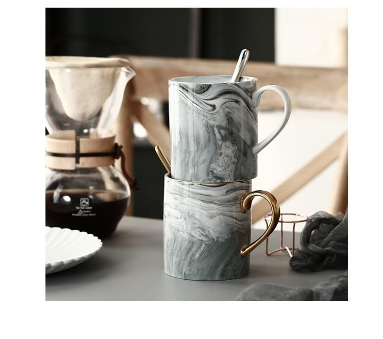 Marble Porcelain Coffee Mug