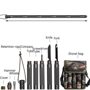 Foldable Trekking Poles Hiking Tactical Stick 5 Sizes