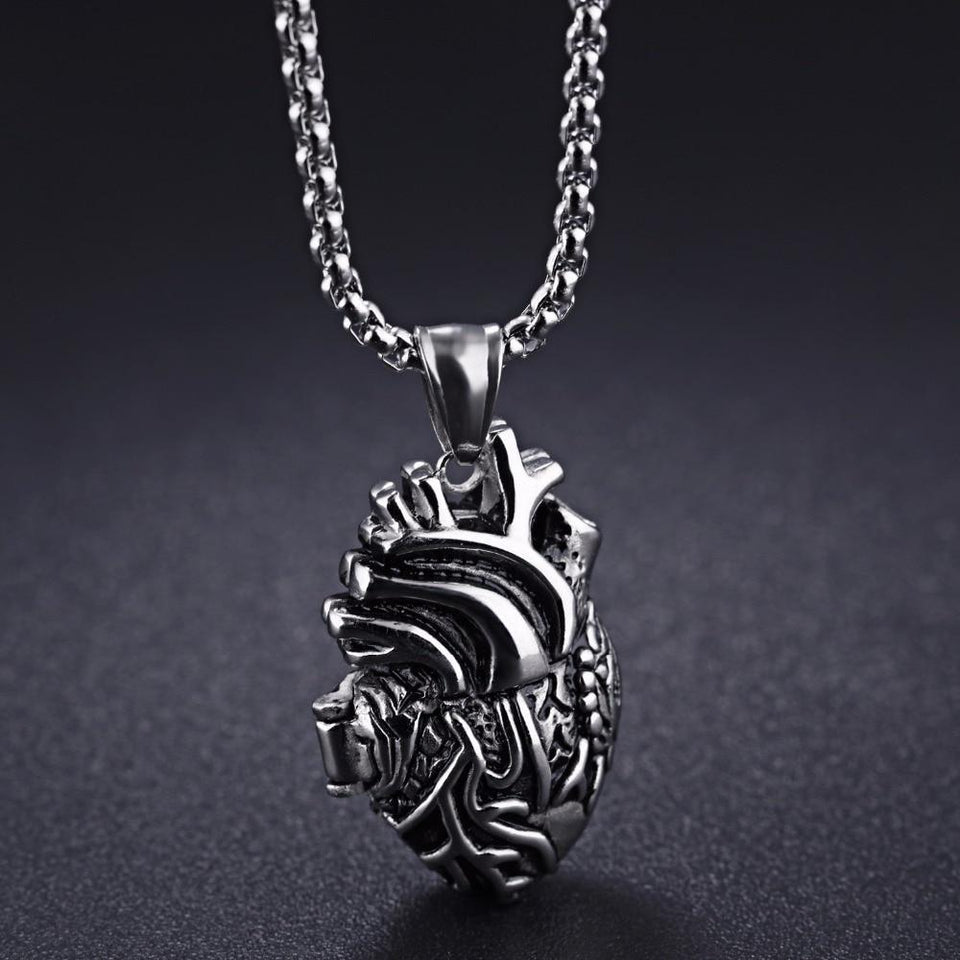 3D Anatomically Correct Heart Charm Necklace