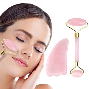 Deciniee Rose Quartz Facial Jade Roller Massager