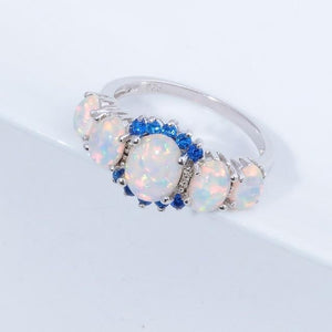 Lux -  Fire Opal Garnet Ring