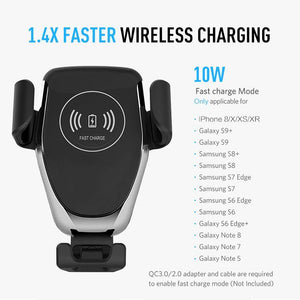 Wireless Car Charger Qi-Certified