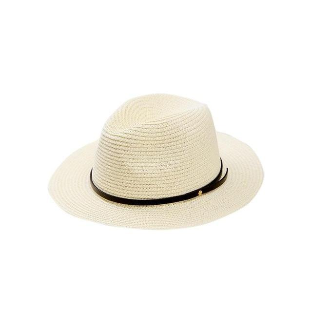 Women's Wide Brim Straw Panama Roll Up Hat