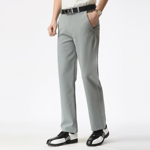 Men's Golf Apparel Slim Fit Straight Polo Long Pant