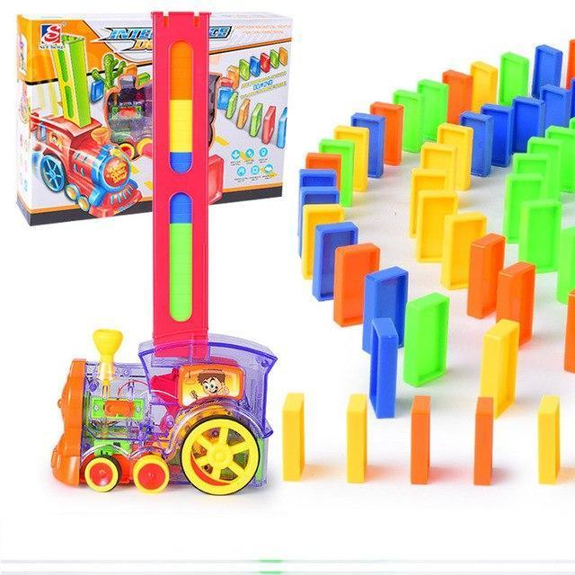 DIY Train Domino Building Blocks