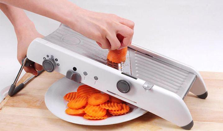Stainless Steel Blades Vegetable Slicer Cutter Ultra Precision Adjustable Mandoline Slicer