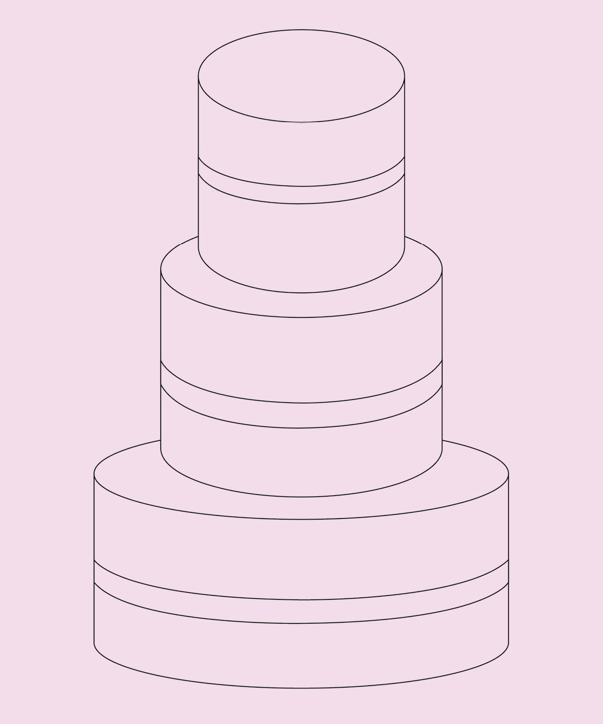 THREE TIER - two layer (SERVES ABOUT 50)