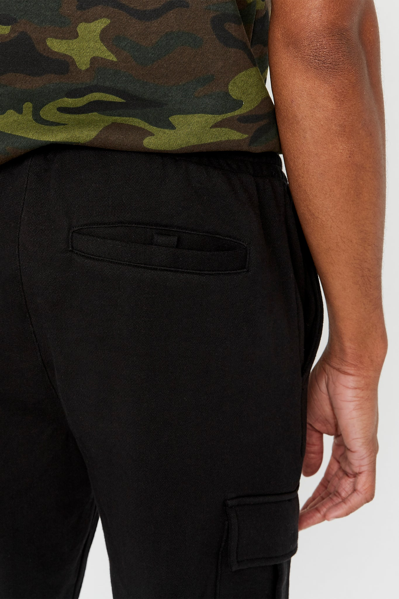 Detailed view of back pocket