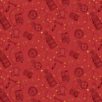 Henry Glass Fabrics - Papa's Old Truck - Tonal Tools Red