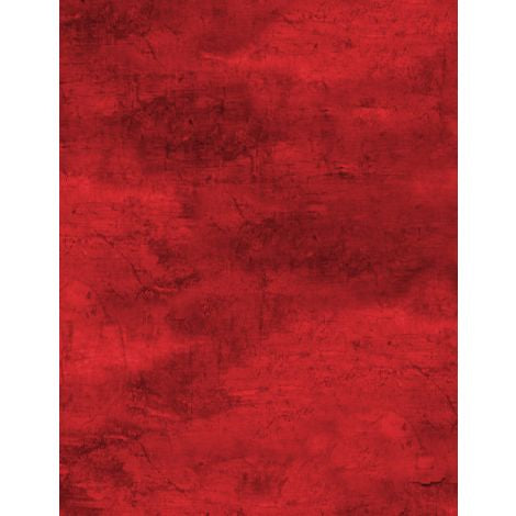 Wilmington Prints - Flannel - Cabin Welcome - Forest Texture Red