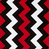 Riley Blake Fabrics - Medium Chevron Black/Red