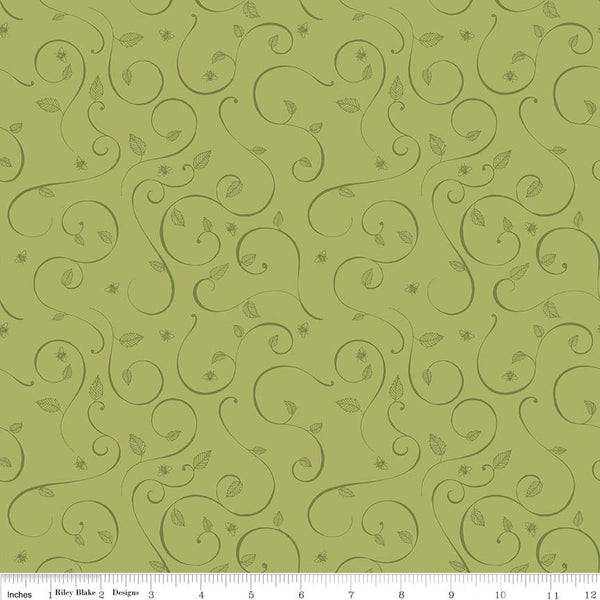 Riley Blake Fabrics - Coming Up Roses - Green