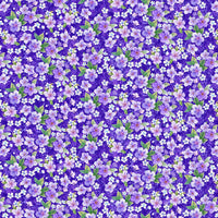 "Studio ""e"" Fabrics - Panda Sanctuary - Large Floral Purple"