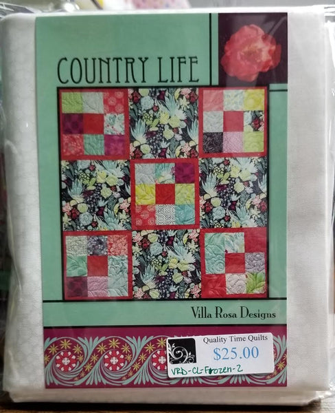 Villa Rosa Quilt Kit - Country Life Frozen 2