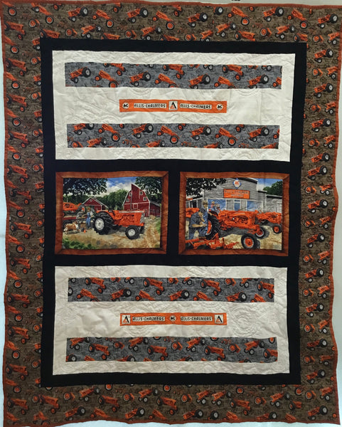 Oversized Throw Quilt - Allis Chalmers