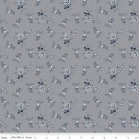 Riley Blake Fabrics - Tranquility - Rose Stems Gray