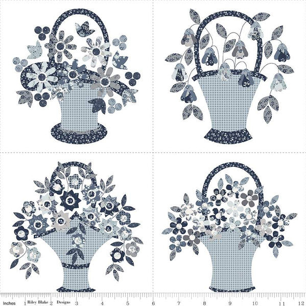 Riley Blake Designs - Tranquility Basket 2 Panel