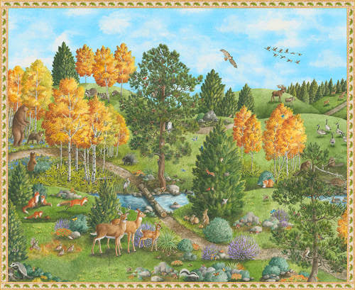 Blank Quilting - Nature Trail Digital Print - Panel