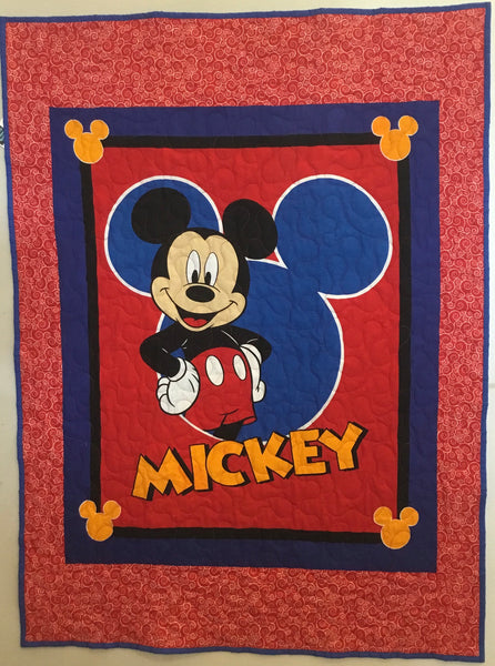 Panel Throw Quilt - Mickey Mouse Outline #6