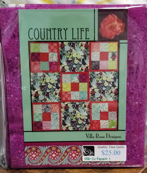Villa Rosa Quilt Kit - Country Life Frozen 1