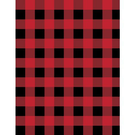 Wilmington Prints - Flannel - Cabin Welcome - Buffalo Plaid Red