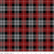 Riley Blake Fabrics - All About Plaids - Tartan Red Black