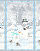 Wilmington Prints - Snow Valley Snowmen - Panel