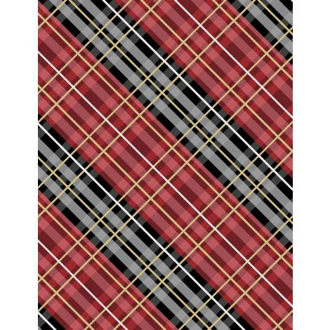 Wilmington Prints - Flannel - Cabin Welcome - Plaid Red