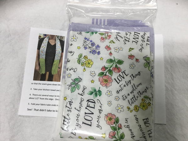 1032K - Kitchen Scarf Kit - New Friends White