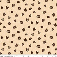 Riley Blake Fabrics - Pinewood Acres Tracks -  Cream