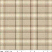 Riley Blake Fabrics - All About Plaids - Tweed Tan