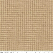 Riley Blake Fabrics - All About Plaids - Houndstooth Tan