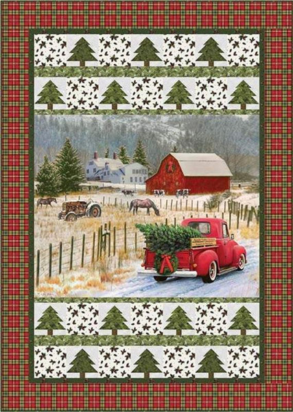 Riley Blake Designs - Quilt Pattern - Castilleja Cotton Country Christmas Panel