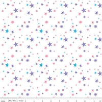 Riley Blake Fabrics - Uni The Unicorn - Stars White