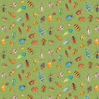 Blank Quilting - Nature Trail - Bugs Digital Print Lt. Green