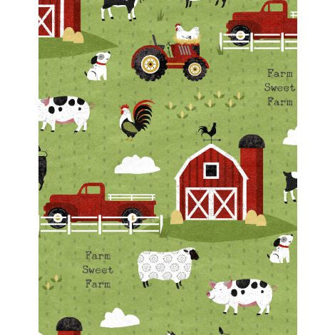 Wilmington Prints - Country Life - Scenic Green