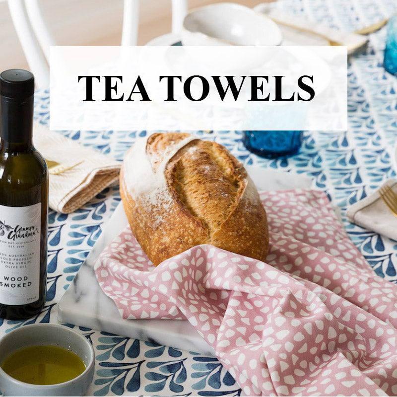Buy Designer Tea Towels Online Australia: Luxurious Linen & Cotton