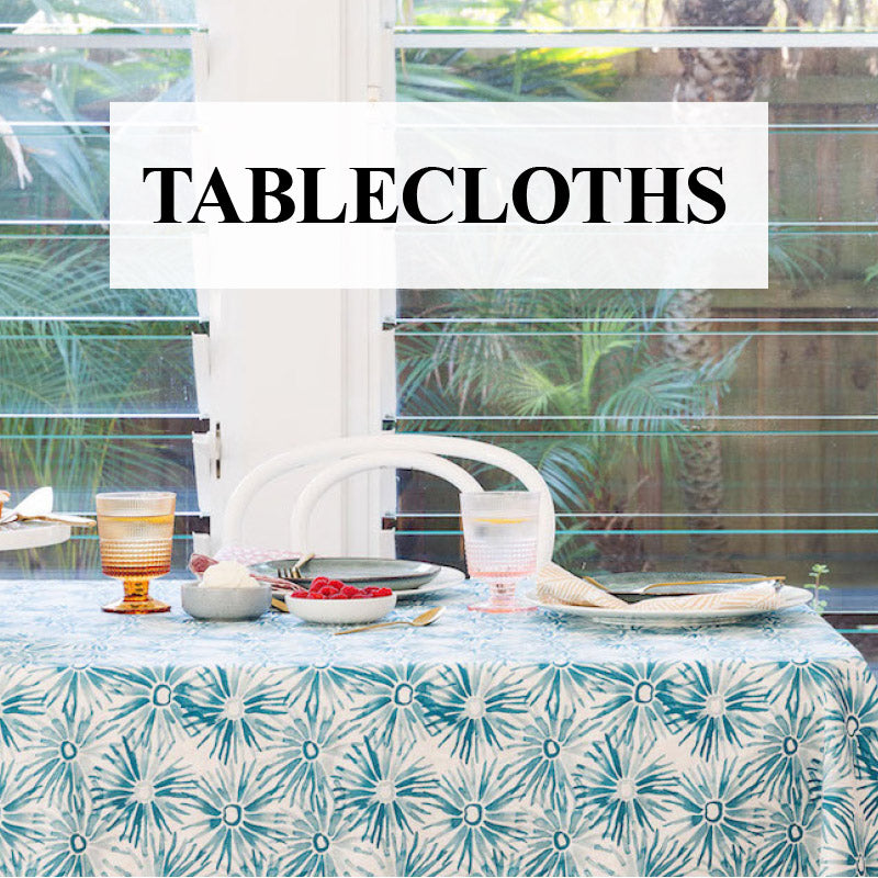 Shop Designer Tablecloths Online: Large & Luxurious Linen & Cotton Australia
