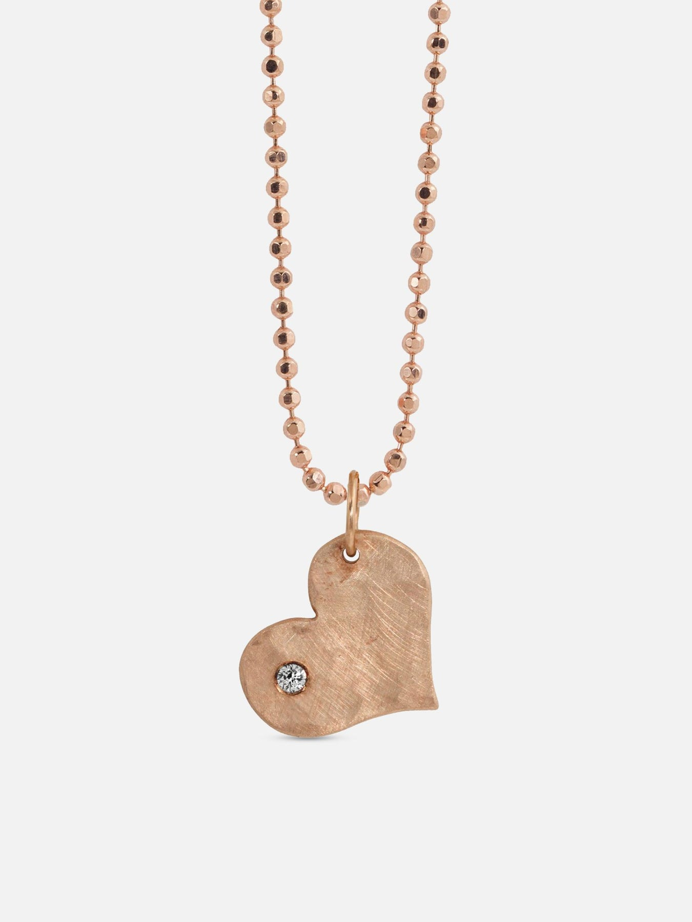 Lovely Vintage 32 in Gold Pendant Heart Charm Necklace