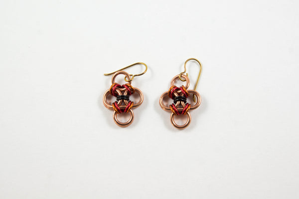 Japanese Cross Earrings