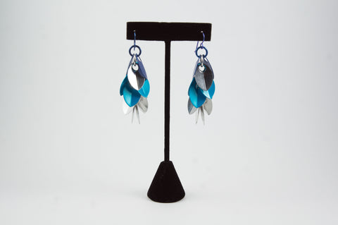 Shaggy Scales Earrings (blues) - 30% off