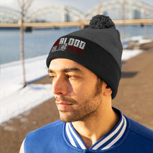 "Load image into Gallery viewer, INDY UCHIHA  ""BLOOD IN THE WATER"" Pom Pom Beanie"